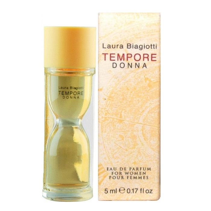 Tempore Donna Mini Perfume by Laura Biagiotti 0.17oz / 5ml Eau De Parfum for Women