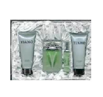 Tiamo Gift Set for Men - 3.4oz Eau De Toilette spray, 5.0oz After Shave Balm, 5.0oz Shower Gel & 0.8oz Eau De Toilette spray