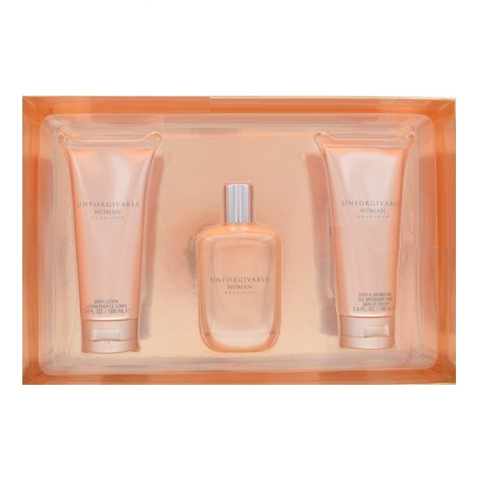 Unforgivable Perfume Gift Sets for women - 4.2oz Eau De Parfum spray, 3.4oz Body lotion, & 3.4oz Shower Gel