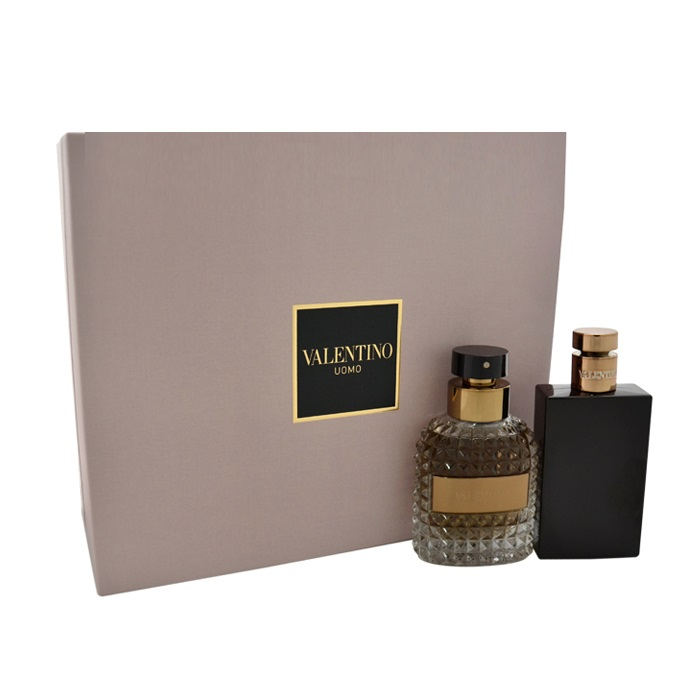Valentino Uomo Gift Set by Valentino for men - 3.4oz Eau De Toilette spray, & 3.4oz Shower Gel