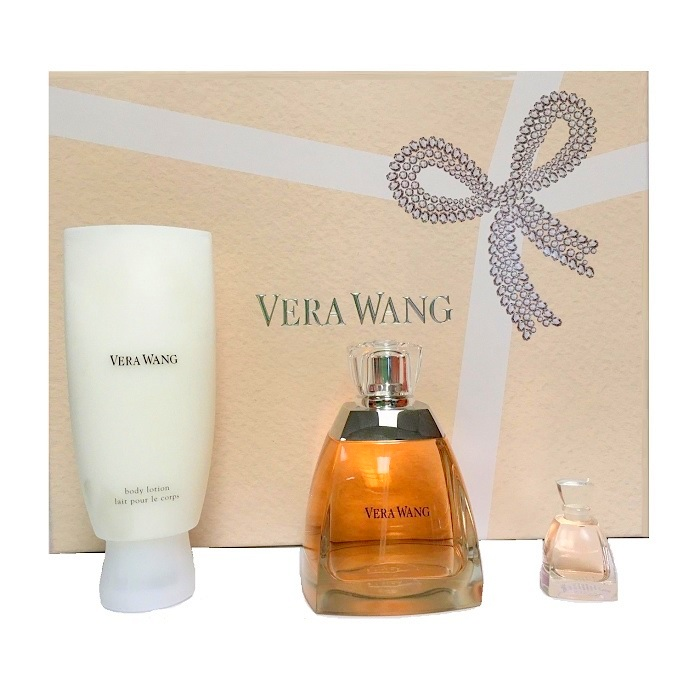 Vera Wang Perfume 3 Pieces Gift Set for women - 3.4oz Eau De Parfum spray, 3.4oz Body Lotion, & 0.13oz Mini