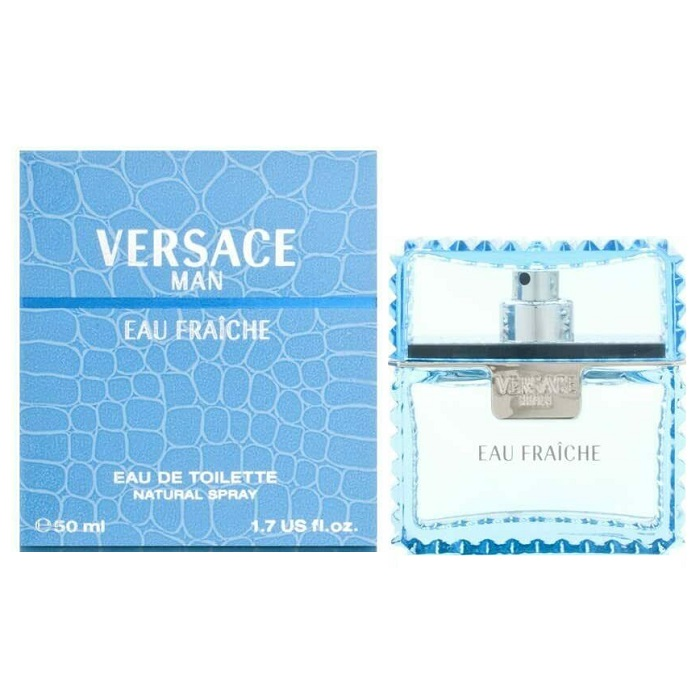 Versace Man Eau Fraiche Cologne by Versace 1.7oz Eau De toilette spray for Men