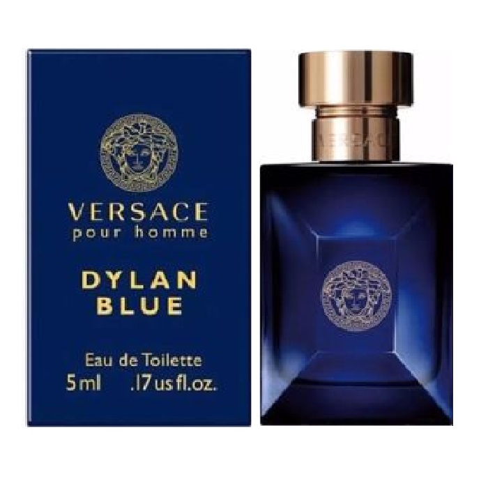 Versace Pour Homme Dylan Blue Mini Cologne by Versace 0.17oz / 5ml Eau De Toilette for men