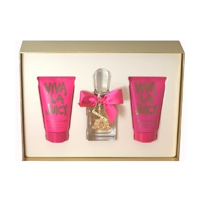 Viva La Juicy Perfume Set for Women - 1.7oz Eau De Parfum, 4.2oz Body Lotion, & 4.2oz Shower Gel