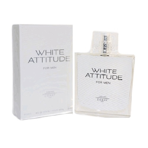White Attitude Cologne by Parfums Deray 3.4oz Eau De Toilette spray for men
