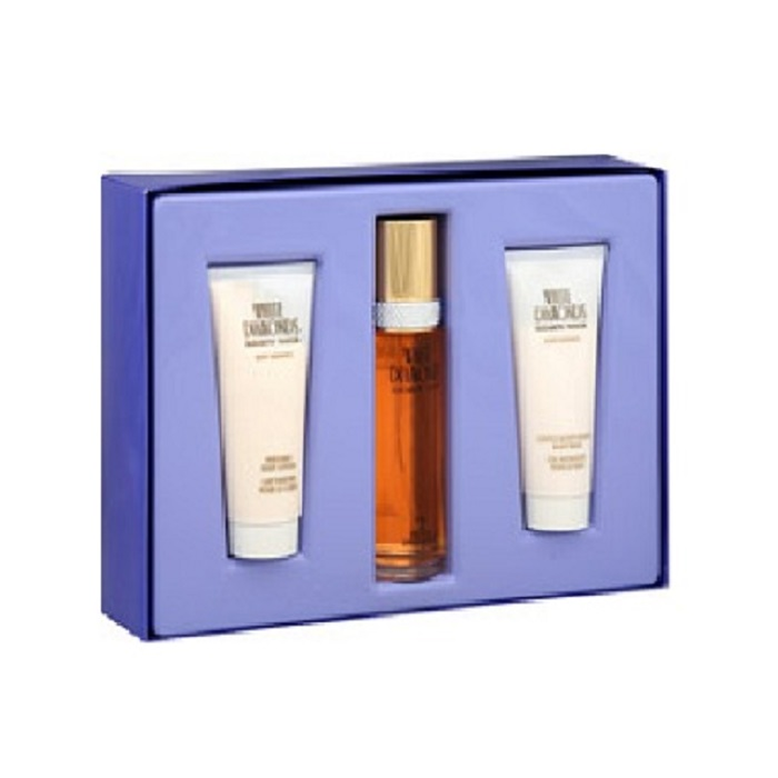 White Diamonds Perfume Gift Set - 3.3oz Eau De Toilette spray, 3.3oz Body Lotion and 3.3oz Body Wash