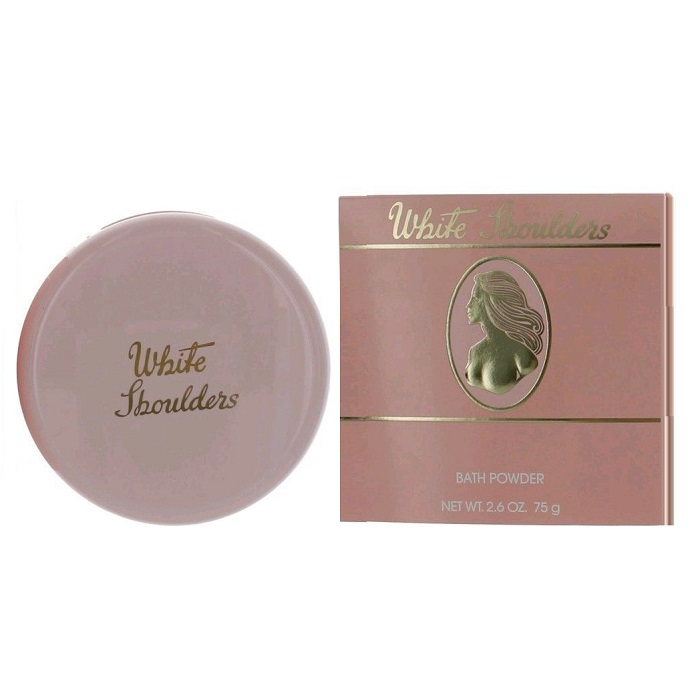 White Shoulders Body Powder by Evyan Perfumes Inc 2.6oz for women
