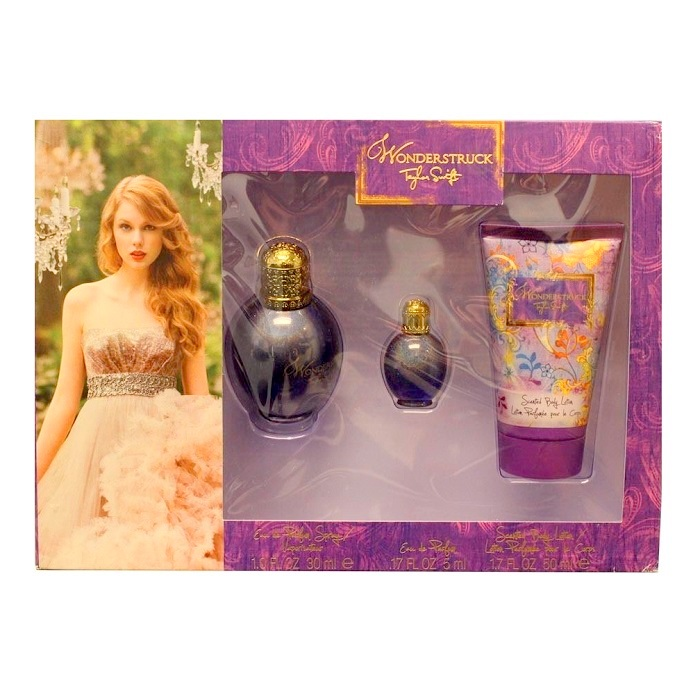 Wonderstruck Perfume Gift Sets for Women - 3.4oz Eau De Parfum spray, 3.4oz Body lotion, & 0.5oz Eau De Parfum spray