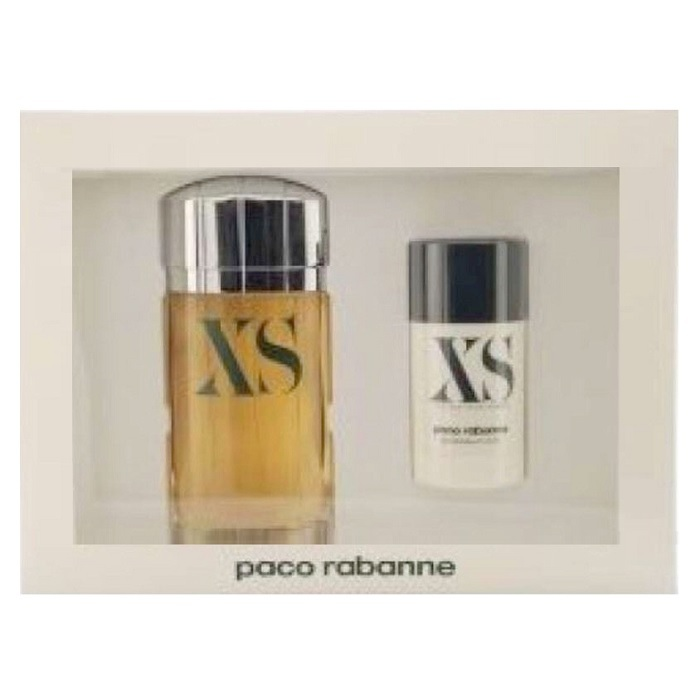 XS Paco Rabanne Gift Set for Men - 3.4oz Eau De Toilette spray and 2.2oz Deodorant Stick