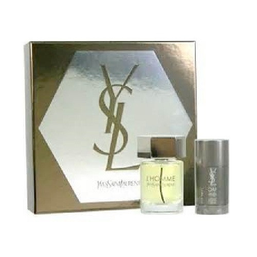 YSL L'Homme Gift Set - 3.3oz Eau De Toilette spray and 2.6oz Deodorant Stick