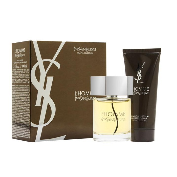 YSL L'Homme Gift Set - 3.3oz Eau De Toilette spray and 3.4oz Shower Gel
