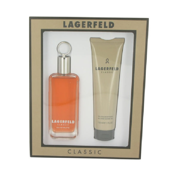 Lagerfeld Gift Set for men - 4.2oz Eau De Toilette spray and 5.0oz Shower Gel