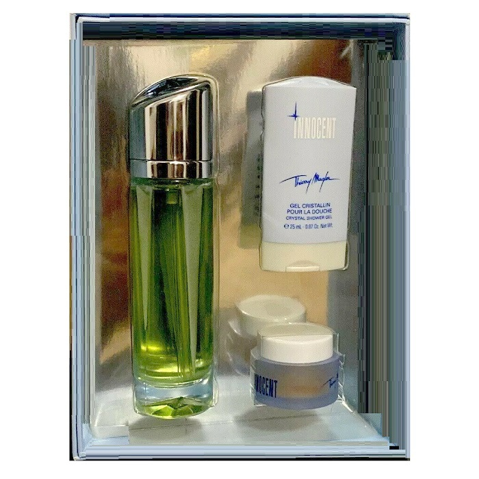 Angel Innocent Perfume Gift Set - 2.6oz Eau De Parfum Spray, 0.87oz Shower Gel, & 0.5oz Body Cream