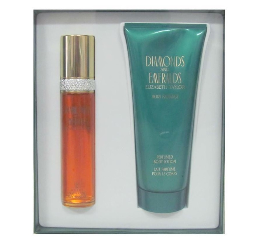 Diamonds and Emeralds Gift Set for women - 1.7oz Eau De Toilette spray, & 6.8oz Body Lotion