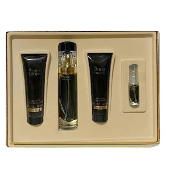 Perry For Her Perfume Gift Set - 3.4oz Eau De Parfum Spray, 3.0oz Body Lotion, 3.0oz Bath & Shower Gel and 7.5ml Eau De Perfume