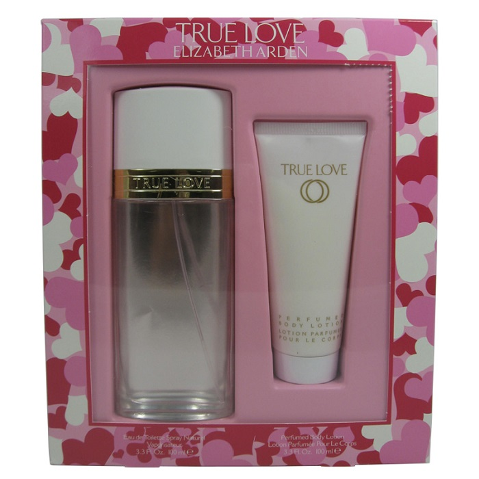True Love Perfume Set for women - 3.3oz Eau De Toilette spray, & 3.3oz Body Lotion