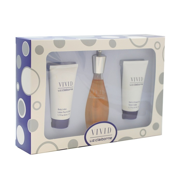 Vivid Perfume Gift Set for Women - 1.7oz Eau De Toilette spray, 1.7oz Body Lotion, & 1.7oz Shower Gel