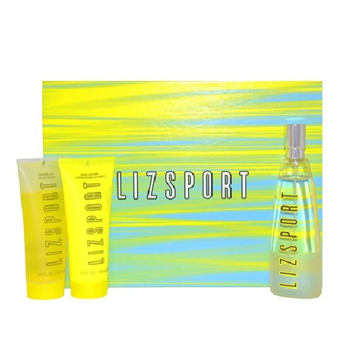 Liz Sport Perfume Gift Set - 3.4oz Eau De Toilette spray, 3.4oz Shower Gel, & 3.4oz Body Lotion
