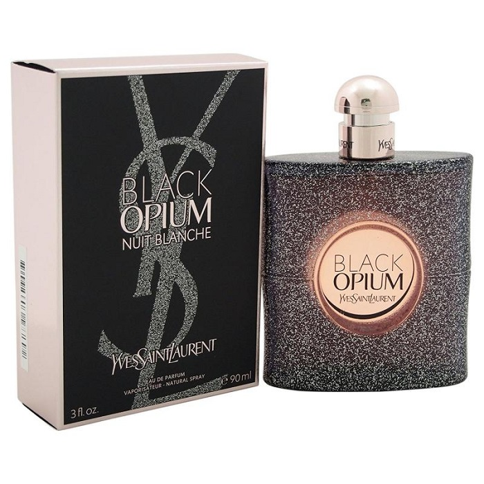 Black Opium Nuit Blanche Perfume by Yves Saint Laurent 3.0oz Eau De Parfum Spray for women